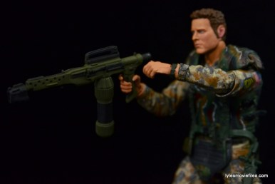 NECA Aliens Sgt Craig Windrix figure -flame thrower detail