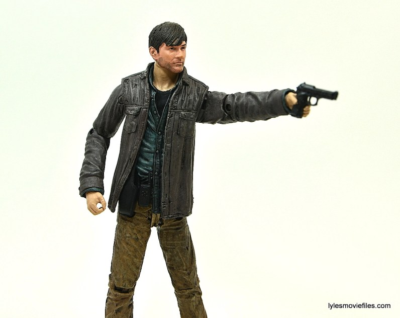 The Walking Dead Gareth figure review - aiming