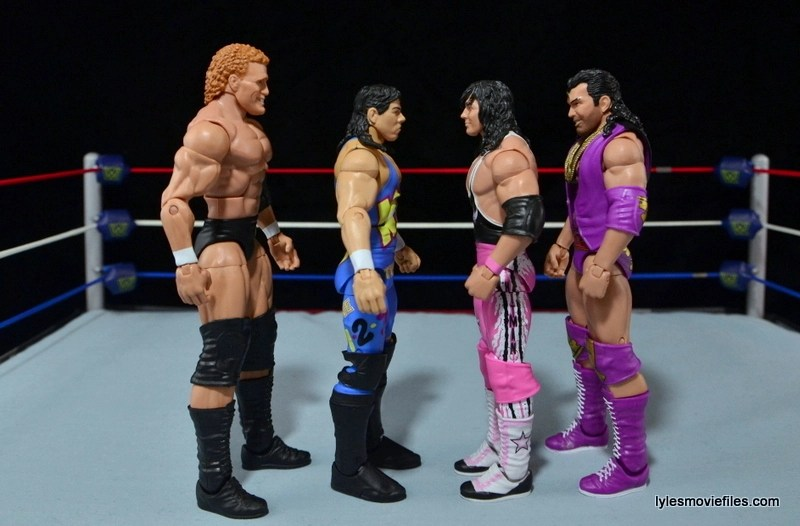 WWE 123 Kid figure review - scale with Sid, Bret Hart and Razor Ramon