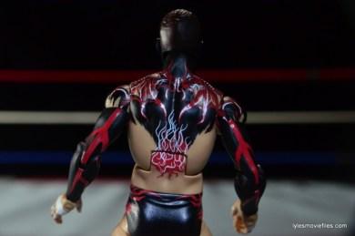 WWE Elite 41 Finn Balor -back paint detail