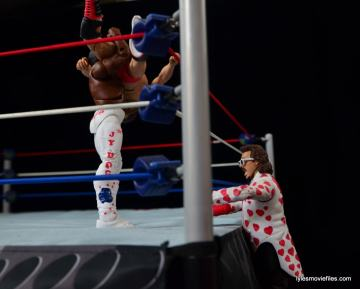 WWE Hall of Fame Jimmy Hart figure -watching Terry Funk get slammed-min