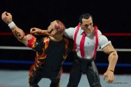 WWE IRS Mattel Elite figure review -clothesline to Bam Bam Bigelow