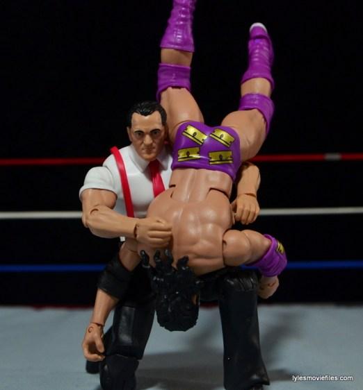 WWE IRS Mattel Elite figure review -shoulder breaker to Razor Ramon