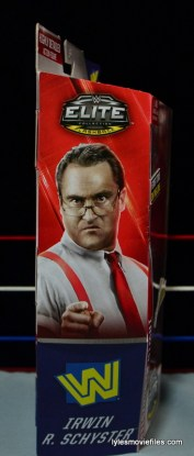 WWE IRS Mattel Elite figure review -side package
