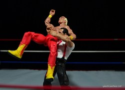 WWE IRS Mattel Elite figure review -suplex to Hulk Hogan