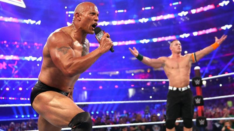 wrestlemania 32 - the rock and john cena resolutions