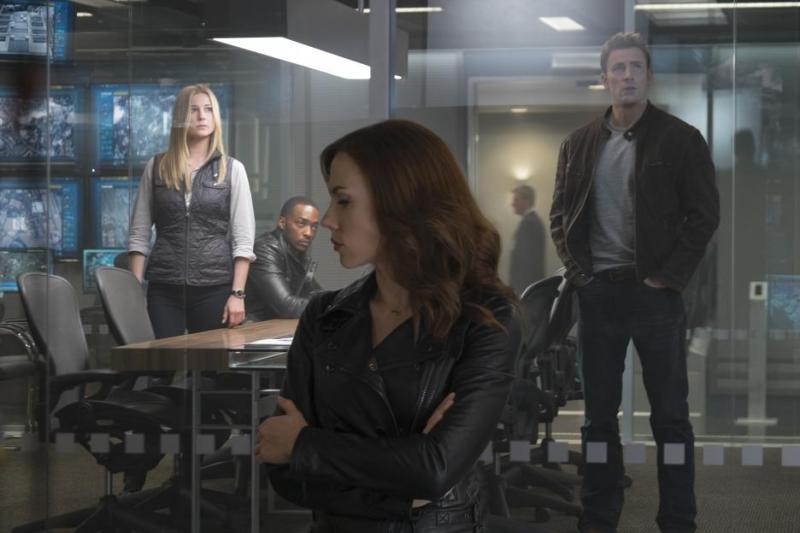 Captain America Civil War pictures - Sharon Carter, Falcon, Steve Rogers and Black Widow