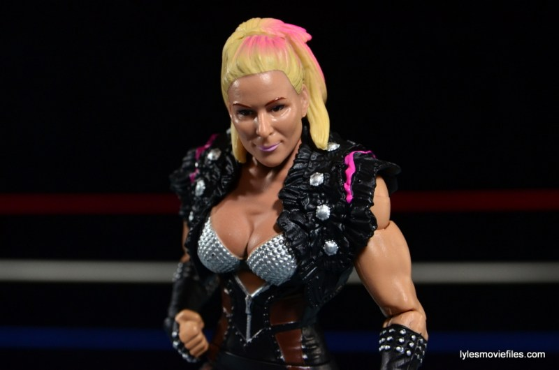 WWE Natalya figure review - paint detail