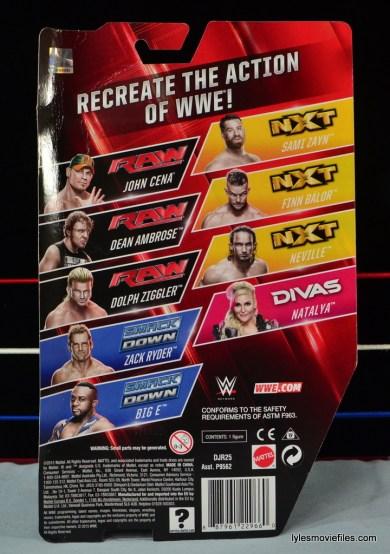 WWE Natalya figure review - rear packae