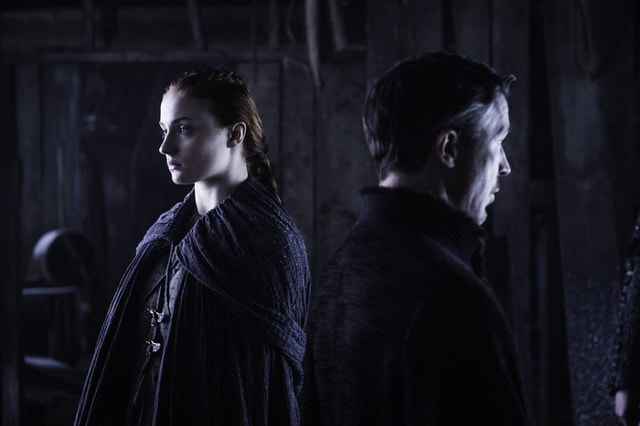 game of thrones - the door review -sansa and littlefinger-min