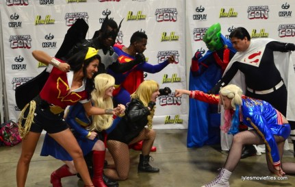 Awesome Con cosplay Day 2 -DC heroes face off