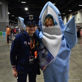 Awesome Con cosplay Day 2 - cop and Left Shark