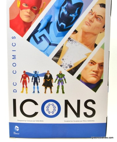 DC Icons Blue Beetle figure review -rear package