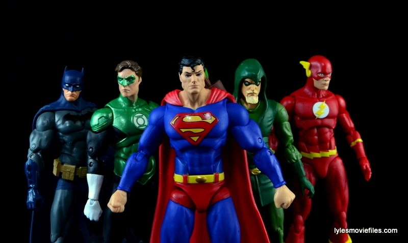 DC Icons Superman figure review - Justice League posing