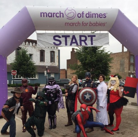 Heroes for Hope - at March of Dimes event
