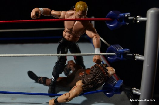 Hunter Hearst Helmsley WWE Network Spotlight figure -beating Mankind in corner