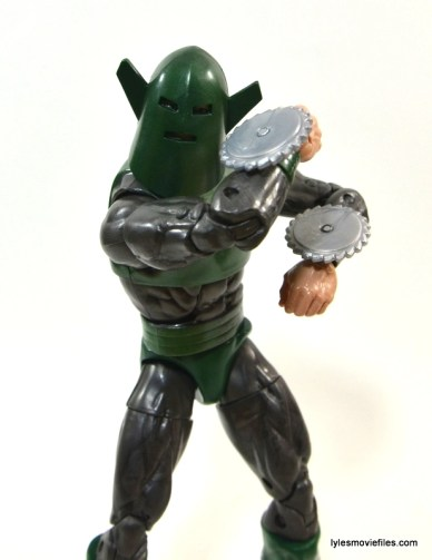 Marvel Legends Whirlwind figure review -blades up