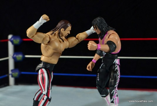 WWE Elite 41 Terry Funk figure review -punching Bret Hart