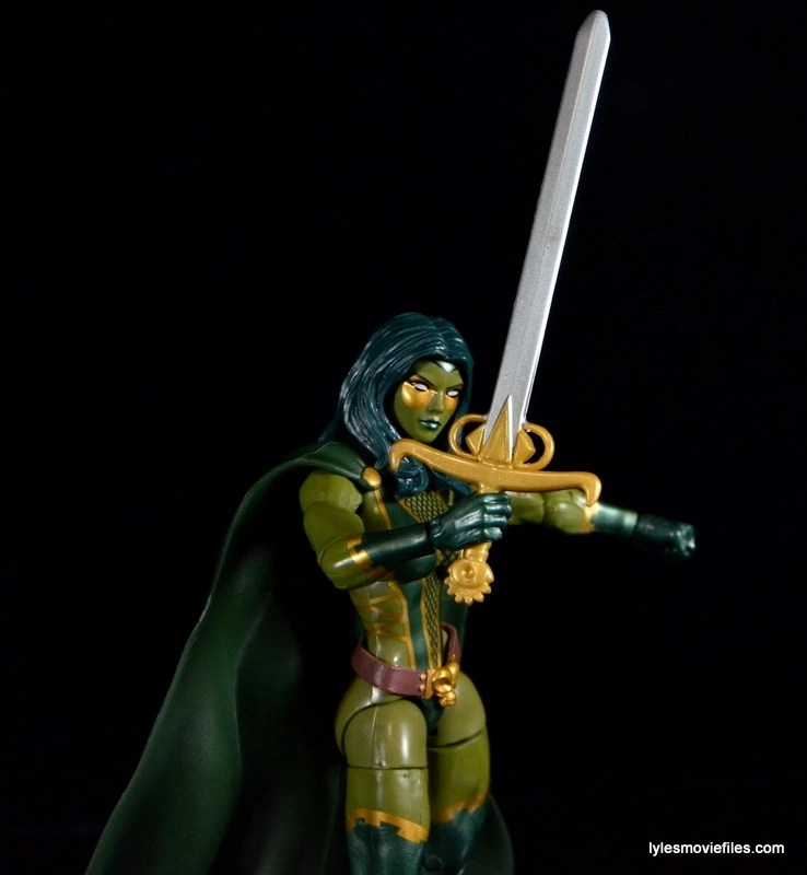 Guardians of the Galaxy Marvel Legends exclusive -Gamora sword closeup