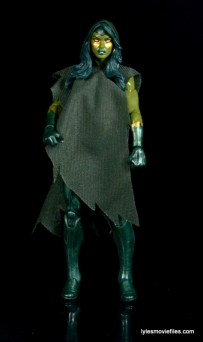 Guardians of the Galaxy Marvel Legends exclusive -Gamora with poncho straight