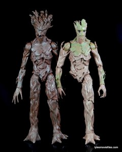 Guardians of the Galaxy Marvel Legends exclusive - Groot standing with movie Groot