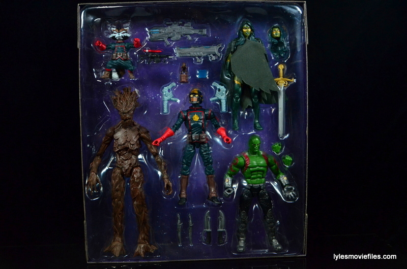 Guardians of the Galaxy Marvel Legends exclusive - inner tray