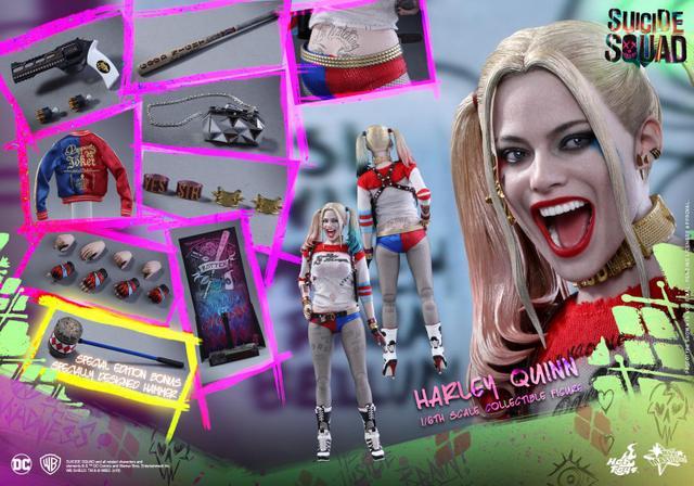 Hot Toys Harley Quinn Suicide Squad figure -exclusive bonus