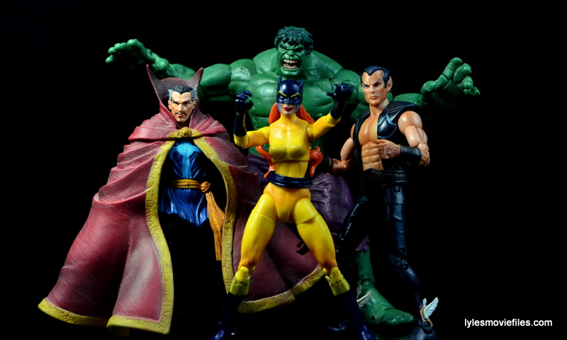 Marvel Legends Hellcat figure review - Defenders Doctor Strange, Hulk and Namor