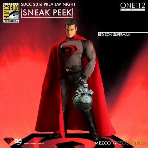 Mezco Toyz One 12 SDCC preview Red Son Superman