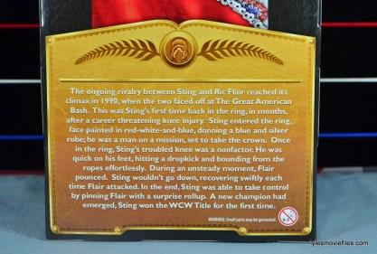 Sting Defining Moments figure review - bio closeup