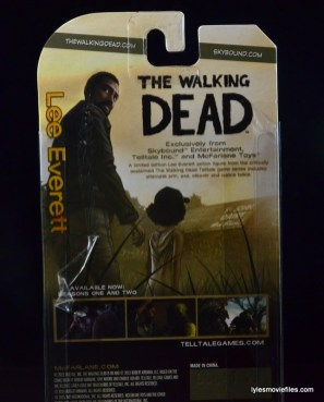 The Walking Dead Lee Everett McFarlane Toys figure - bio close up