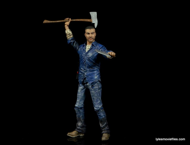 The Walking Dead Lee Everett McFarlane Toys figure -holding pickaxe and cleaver