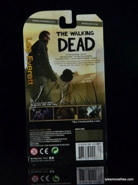 The Walking Dead Lee Everett McFarlane Toys figure -rear package