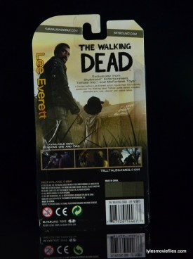 The Walking Dead Lee Everett McFarlane Toys figure -rear package
