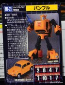 Transformers Masterpiece Bumblebee review -bio card rear