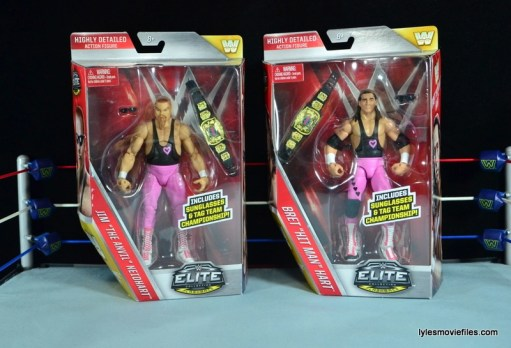 WWE Elite 43 Hart Foundation figures - in package