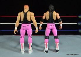 WWE Elite 43 Hart Foundation figures -rear