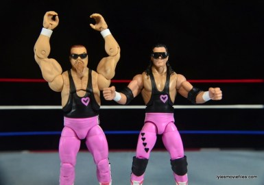 WWE Elite 43 Hart Foundation figures -sunglasses on