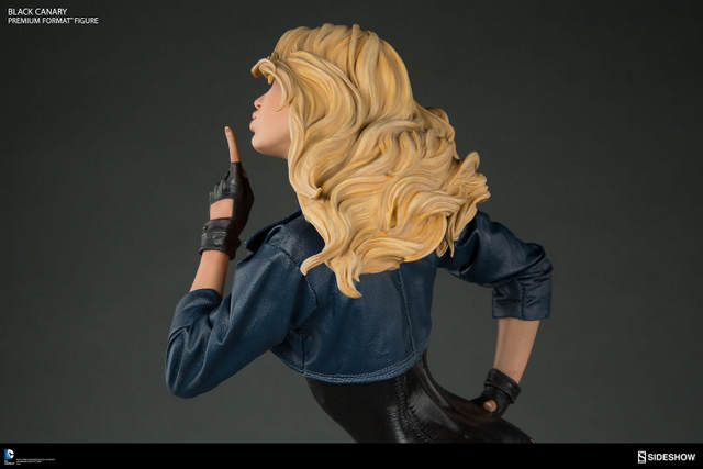 dc-comics-black-canary-premium-format-figure-hair detail