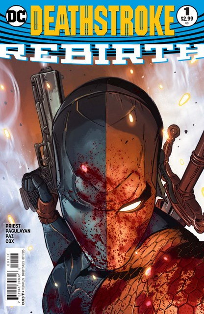 Deathstroke Rebirth issue 1 review cover
