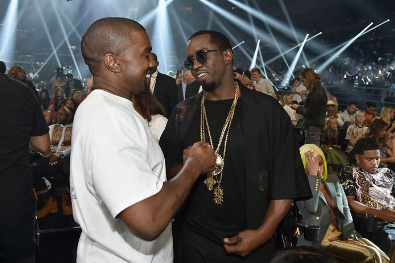 MTV Music Awards 2016 - Kanye West and Sean Puffy Combs