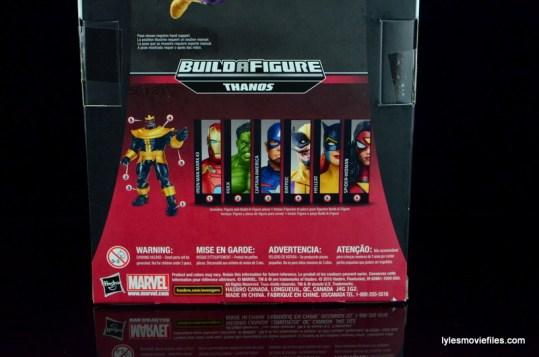 Marvel Legends Batroc figure review -package rear bottom