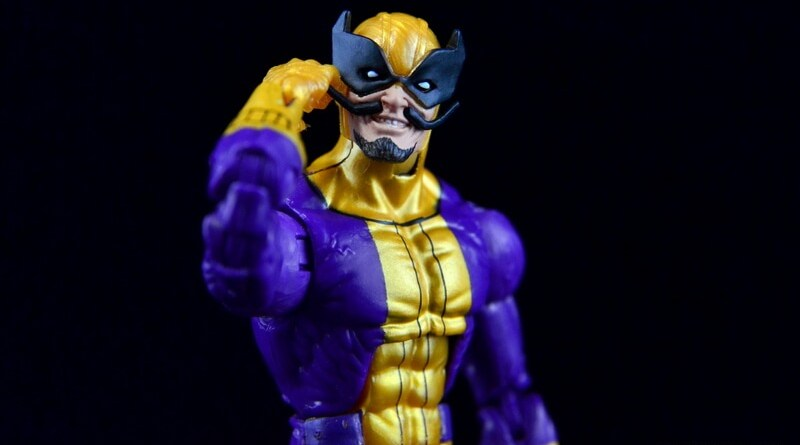 Marvel Legends Batroc figure review -twiddling mustache