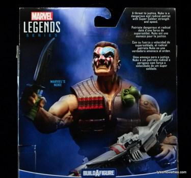Marvel Legends Nuke review - package bio close up