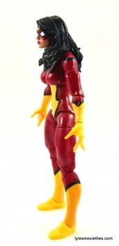 Marvel Legends Spider-Woman figure review - left side