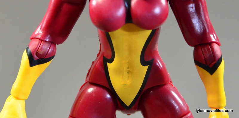Marvel Legends Spider-Woman figure review - torso paint smear