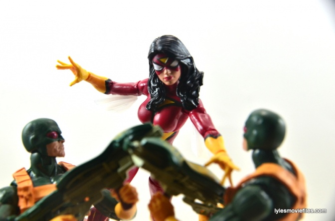 Marvel Legends Spider-Woman figure review - vs Hydra