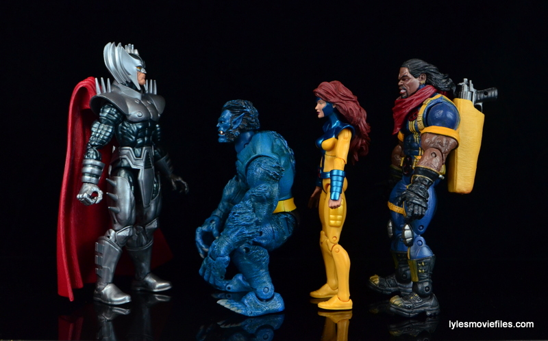 Marvel Legends Stryfe figure review -scale with Beast, Jean Grey and Bishop