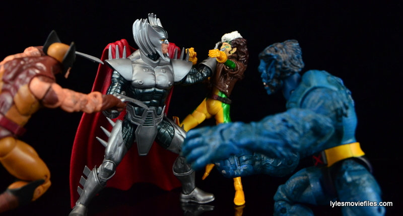 Marvel Legends Stryfe figure review - vs Wolverine, Rogue and Beast