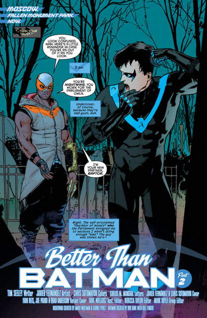 Nightwing isue 2 Better than Batman page 2